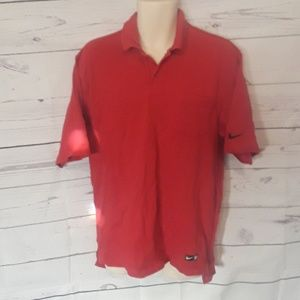 [ NIKE GOLF ] RED POLO STYLE SHIRT SZ LARGE L